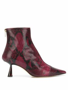 Jimmy Choo Kix 65 snake print ankle boots - Red