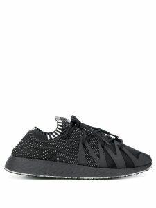Y-3 perforated logo sneakers - Black