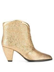 Paola D'Arcano slip-on ankle boots - Gold