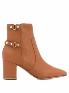 Valentino Valentino Garavani Rockstud 65mm boots - Brown