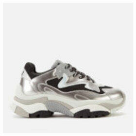 Ash Women's Addict Chunky Running Style Trainers - Antic Silver/Black/Silver - UK 8 - Silver