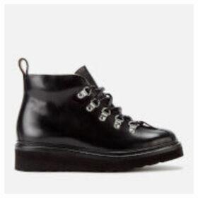Grenson Women's Bridget Leather Hiking Style Boots - Black - UK 8 - Black