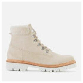 Grenson Women's Brooke Suede Hiking Style Boots - Stone - UK 8 - Grey