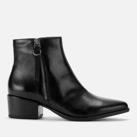 Vagabond Women's Marja Leather Heeled Ankle Boots - Black - UK 6 - Black