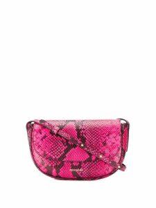 Frenzlauer mini Swing snakeskin effect bag - PINK