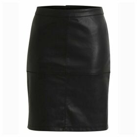 Vipen Faux Leather Pencil Skirt