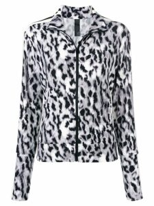 Norma Kamali leopard print sports jacket - Green