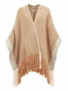 Wehve - Fringed Merino Wool-blend Cardigan - Womens - Brown