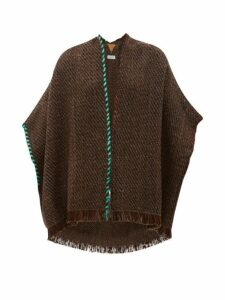 Wehve - Antartica Fringed Merino Wool-blend Cardigan - Womens - Brown