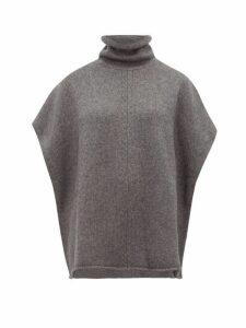 Joseph - Roll-neck Wool-blend Poncho - Womens - Dark Grey
