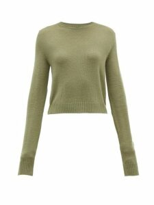 Jil Sander - Ribbed-knit Wool Sweater - Womens - Khaki