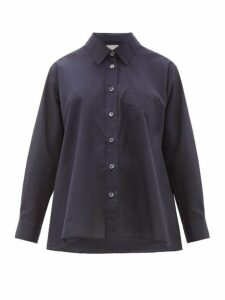 Margaret Howell - Trapeze Cotton-poplin Shirt - Womens - Navy
