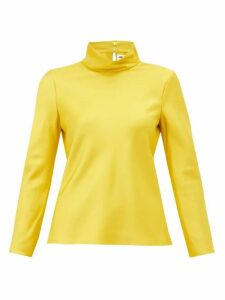 Maison Rabih Kayrouz - High-neck Satin Top - Womens - Yellow