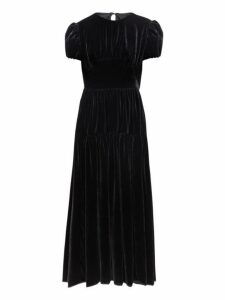 Cecilie Bahnsen - Tia Tiered Velvet Dress - Womens - Black