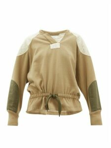 Isabel Marant Étoile - Nifen Panelled Cotton-jersey Sweatshirt - Womens - Khaki