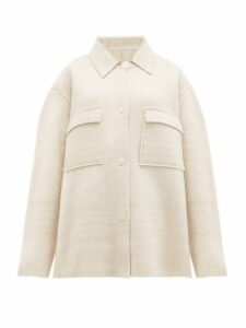 Jacquemus - Maille Oversized Check Wool Jacket - Womens - Ivory
