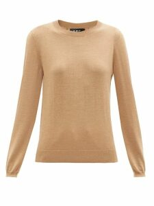 A.p.c. - Savannah Merino-wool Sweater - Womens - Beige