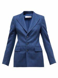 Gabriela Hearst - Olga Single-breasted Checked Wool-blend Jacket - Womens - Navy Multi