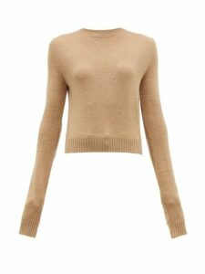 Jil Sander - Round-neck Wool Sweater - Womens - Camel