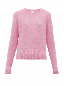Moncler - Logo-patch Sweater - Womens - Pink