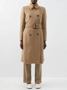 Moncler - Logo Jacquard Striped Wool Blend Sweater - Womens - Cream Multi