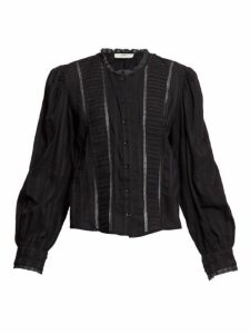 Isabel Marant Étoile - Peachy Crochet-insert Cotton-voile Blouse - Womens - Black