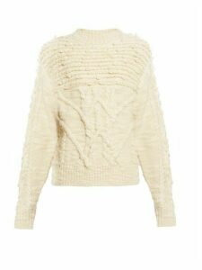 Isabel Marant Étoile - Ryder Wool Cable Knit Sweater - Womens - Ivory