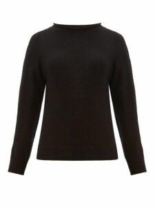 Margaret Howell - Rolled Neckline Cotton-blend Sweater - Womens - Black