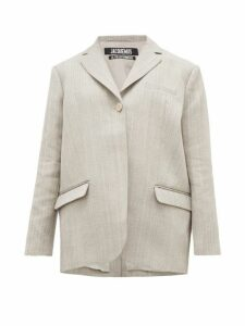 Jacquemus - Moyo Single-breasted Twill Blazer - Womens - Grey