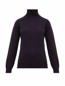 A.p.c. - Sandra Wool Roll Neck Sweater - Womens - Navy