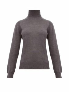 A.p.c. - Sandra Roll Neck Merino Wool Sweater - Womens - Grey
