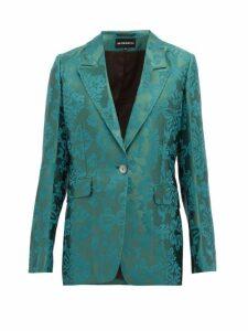 Ann Demeulemeester - Daphne Single-breasted Floral-jacquard Blazer - Womens - Green