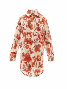 Vivienne Westwood - Lottie Rose Printed Silk Georgette Shirt - Womens - Cream Multi