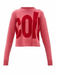 Colville - Logo-intarsia Wool Sweater - Womens - Pink Multi