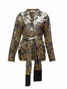Altuzarra - Enid Floral-brocade Silk-blend Shirt - Womens - Black Multi