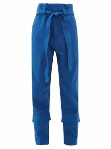 Colville - Belted Combat Trousers - Womens - Blue