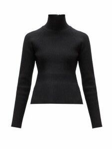 Carolina Herrera - Roll Neck Ribbed Sweater - Womens - Black