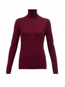 Gabriela Hearst - Costa Roll Neck Cashmere Blend Sweater - Womens - Burgundy