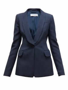 Gabriela Hearst - Caligula Single-breasted Ottoman Blazer - Womens - Navy