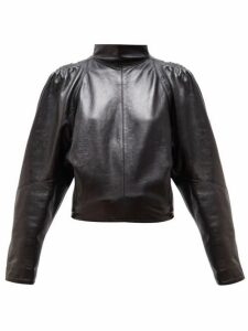 Isabel Marant - Caby High-neck Leather Top - Womens - Black