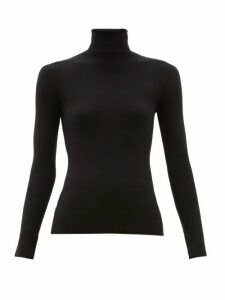 Joostricot - Peachskin Roll-neck Cotton-blend Sweater - Womens - Black