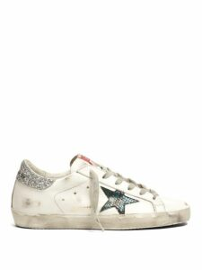 Golden Goose - Superstar Low Top Leather Trainers - Womens - White Silver