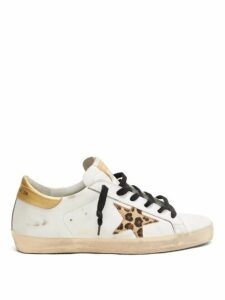 Golden Goose - Superstar Leather Trainers - Womens - White Gold