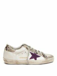 Golden Goose - Superstar Python Effect Leather Trainers - Womens - White Multi