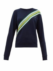 The Upside - Club Bondi Striped Jersey Sweatshirt - Womens - Navy