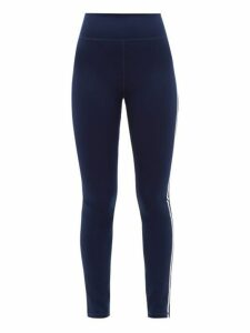 The Upside - Side Stripe Technical Jersey Leggings - Womens - Navy