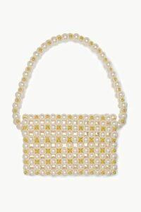 Vanina - Reveries Faux Pearl And Gold-tone Beaded Shoulder Bag - Cream
