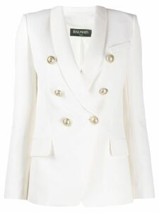 Balmain decorative button blazer - White