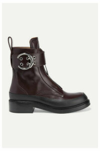 Chloé - Roy Leather Ankle Boots - Merlot