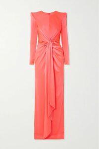 Aquazzura - Satine 105 Crystal-embellished Suede Sandals - Black